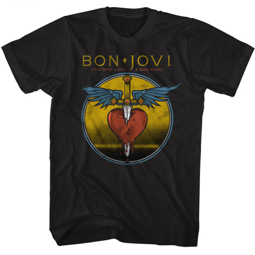 "Bon Jovi ""Heart and Dagger"" Logo T-Shirt"