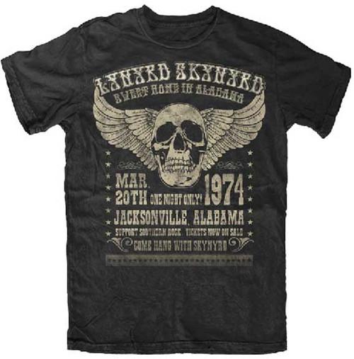 Lynyrd Skynyrd Sweet Home Alabama 1974 Poster T-Shirt