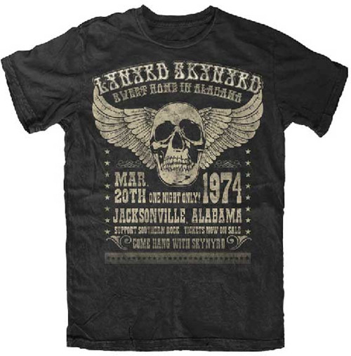 Lynyrd Skynyrd Sweet Home Alabama 1974 Poster T-Shirt