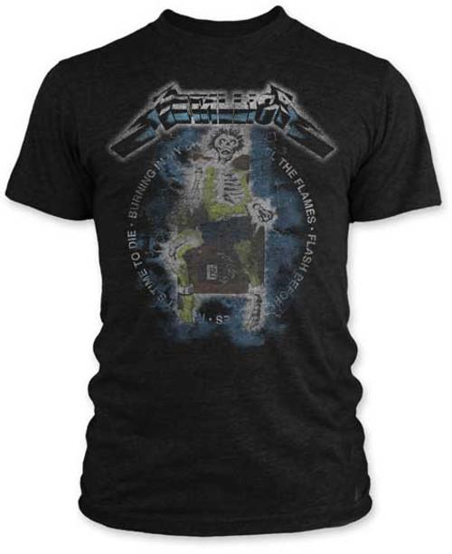 Metallica Vintage Electric Chair T-Shirt- Black