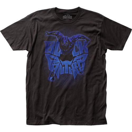 Black Panther Attack Logo T-Shirt