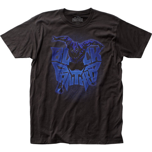 Black Panther Attack Logo T-Shirt
