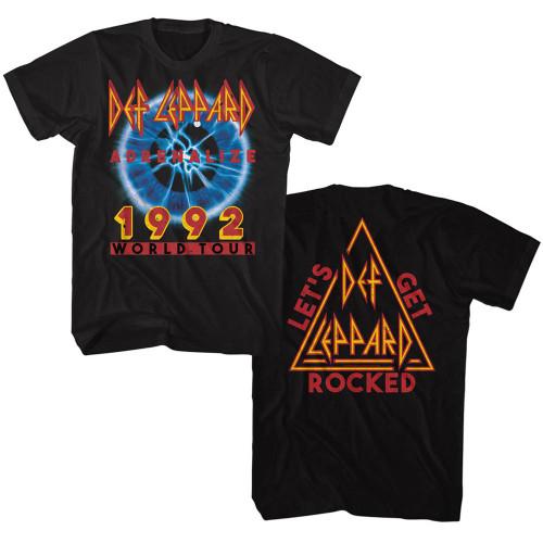 Def Leppard 2-sided 1992 World Tour T-Shirt