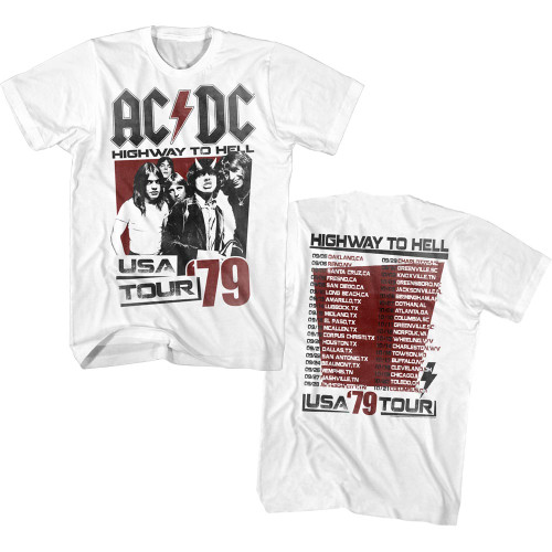 AC/DC 2-Sided 1979 USA Tour T-Shirt
