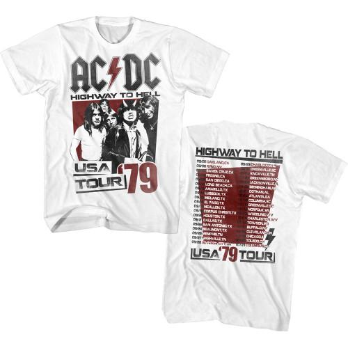 AC/DC 2-Sided 1979 USA Tour T-Shirt