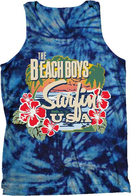 Beach Boys Surfin' USA Tie-Dye Tank Top