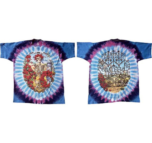 Grateful Dead 30 Years Tie-Dye front and back T-Shirt