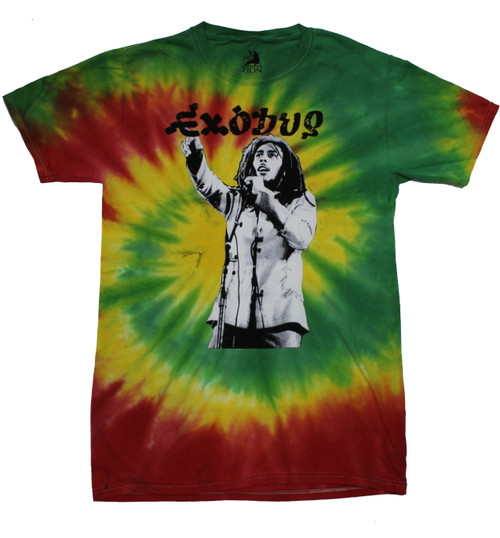 Bob Marley Exodus Tour 2-sided Tie Dye T-Shirt