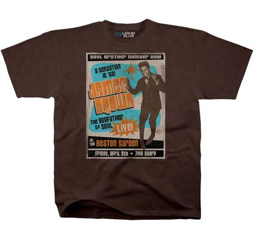 James Brown 1968 Boston Garden Concert Poster T-shirt