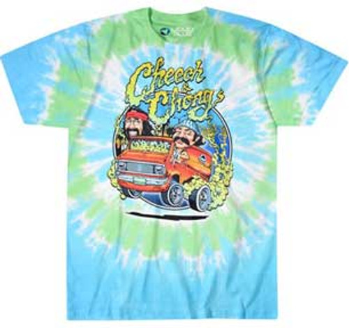 Cheech & Chong Smoking Van Tie Dye T-Shirt