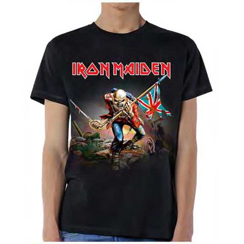 Iron Maiden The Trooper with Flag T-Shirt