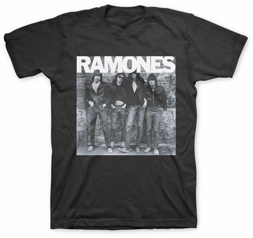Ramones Band Photo Black T-Shirt