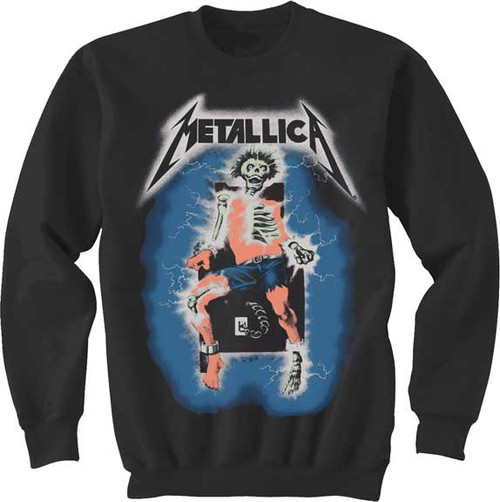 Metallica Ride the Lightning Electric Chair Sweatshirt