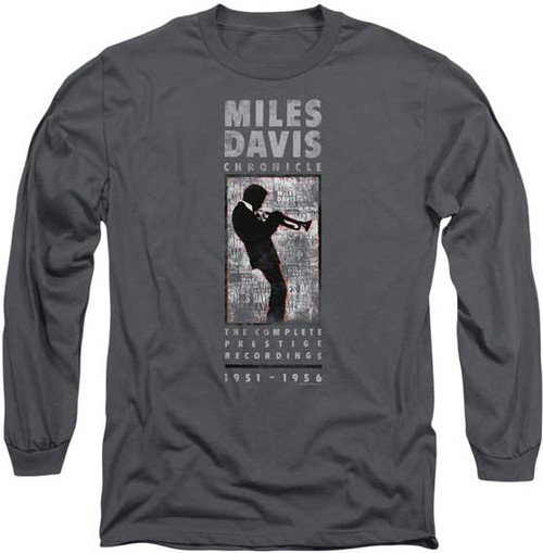 Miles Davis Silhouette Playing Trumpet LS T-Shirt