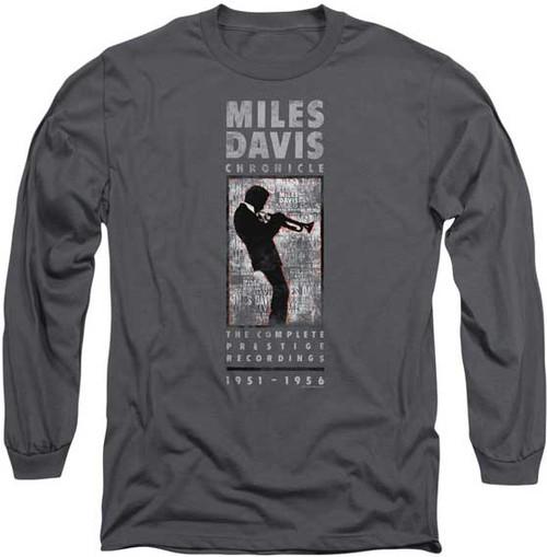 Miles Davis Silhouette Playing Trumpet LS T-Shirt