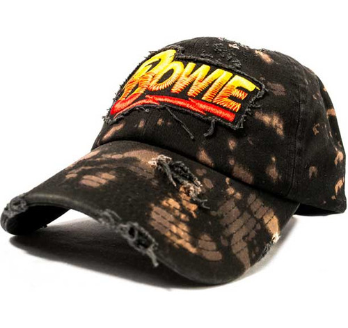 Bowie Bleached and Destroyed Embroidered Cap