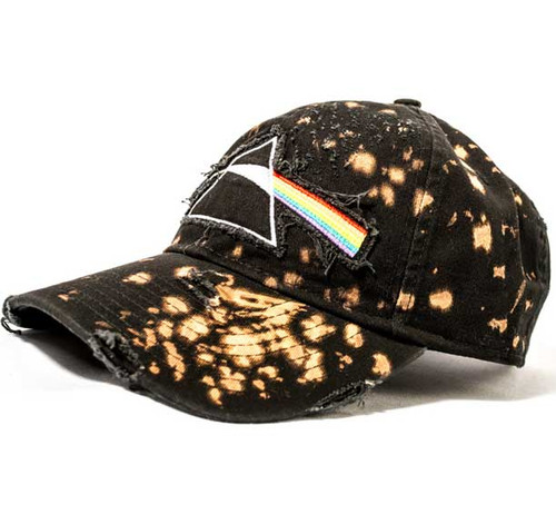 Pink Floyd Bleached and Destroyed Embroidered Cap