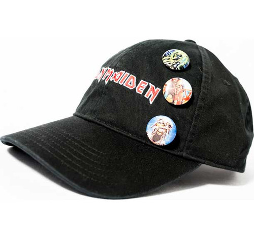 Iron Maiden Embroidered Cap with Buttons
