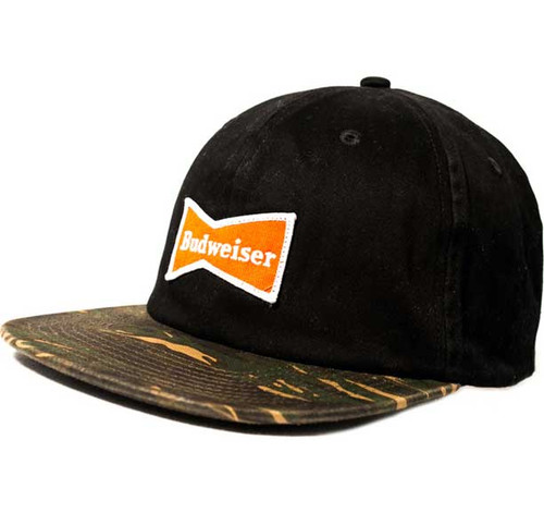 - Budweiser Logo Patch Cap with Camo bill