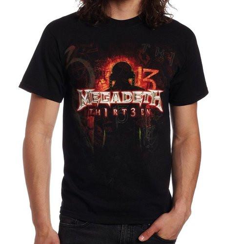 "Megadeth ""TH1RT3EN"""" Black  T-Shirt"