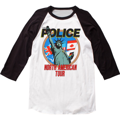 The Police North American Tour Raglan