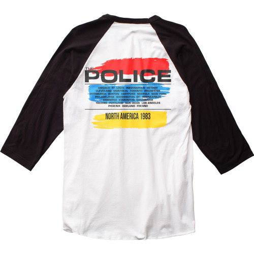 The Police North American Tour Raglan back