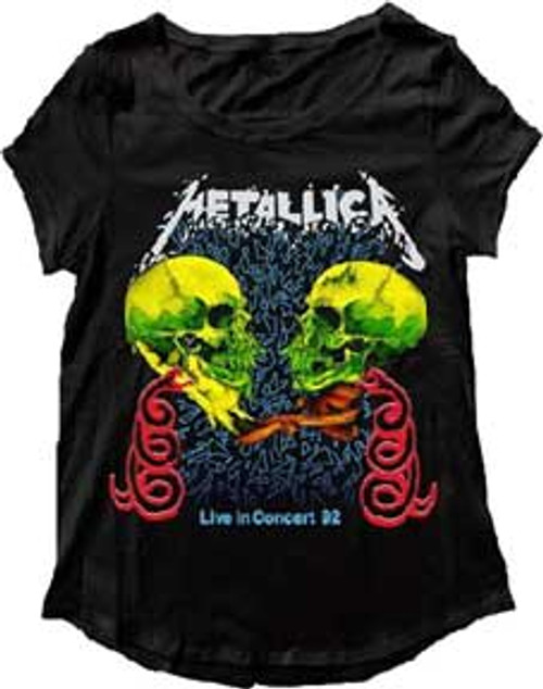 "Metallica ""Live in Concert"" Double Skull T-Shirt"