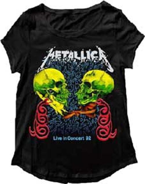 """Metallica """"Live in Concert"""" Double Skull T-Shirt"""