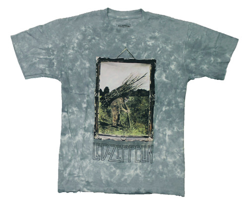 Led Zeppelin IV Album Art 2-sided Tie Dye T-Shirt  - front