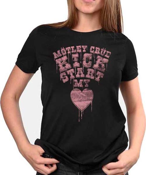 Motley Crue Kick Start My Heart Juniors T-Shirt