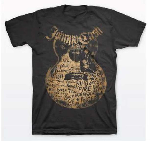 Johnny Cash Guitar with Songs T-Shirt