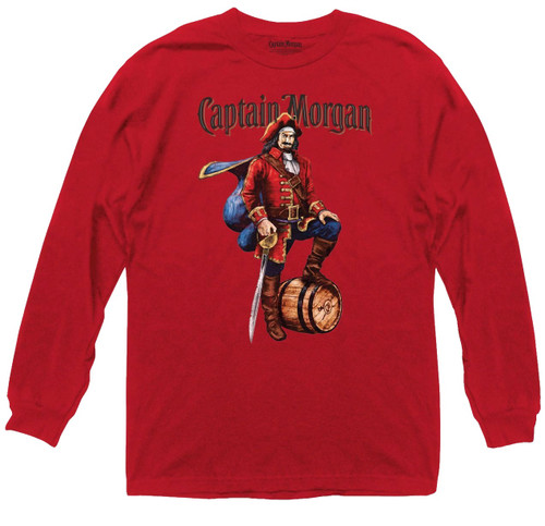 Captain Morgan Rum Long Sleeve LS T-Shirt