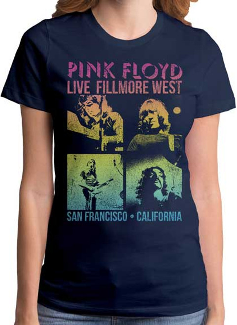 Pink Floyd Fillmore West Concert Juniors T-Shirt