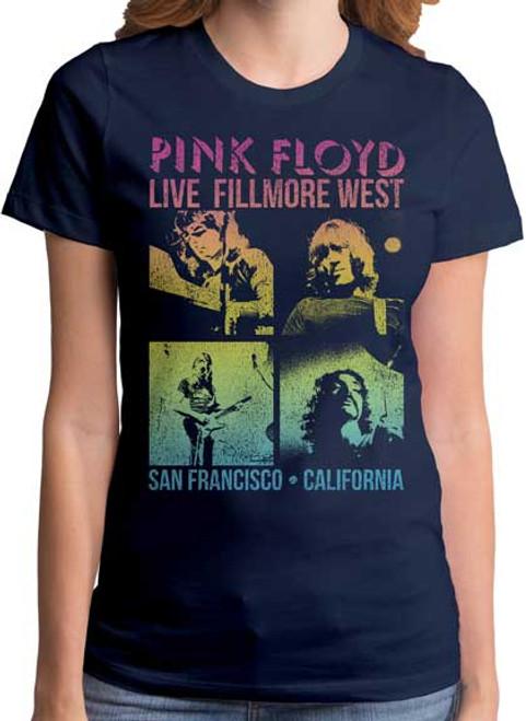 Pink Floyd Fillmore West Concert Juniors T-Shirt