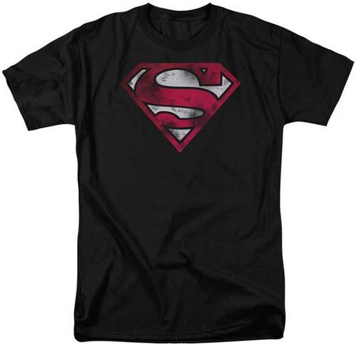Superman with War Torn Shield T-Shirt