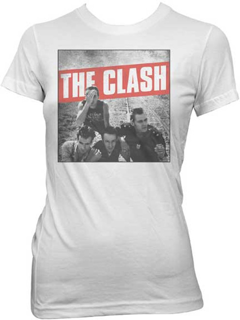 The Clash Band Photo Juniors T-Shirt