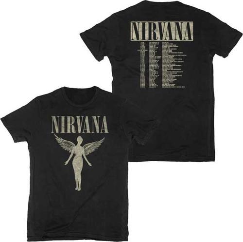 Nirvana 1993 In Utero 2-sided Tour T-Shirt