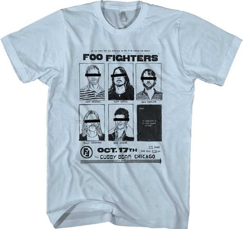 Foo Fighters Cubby Bear Chicago T-Shirt