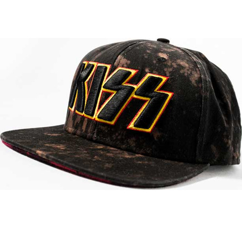KISS Bleached and Embroidered Cap