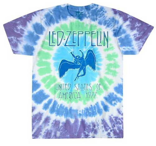Led Zeppelin 1977 Tour Icarus Tie Dye T-Shirt