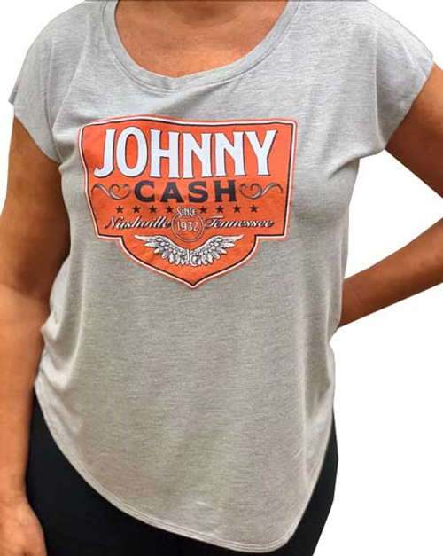 Johnny Cash Women's Nashville Dolman T-Shirt