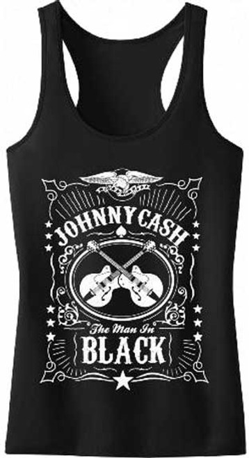 Johnny Cash Junior's Racer back Tank Top Shirt