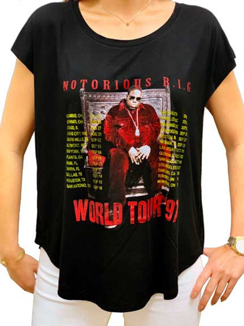 Notorious B.I.G. '97 World Tour Women's Dolman T-Shirt