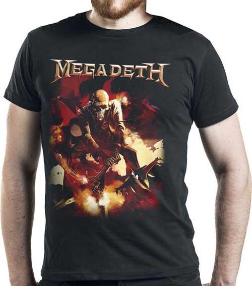 Megadeth Rattlehead Smashing Guitar T-Shirt