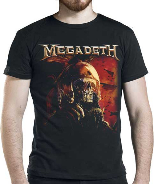 Megadeth Rattlehead Fighter Pilot T-Shirt