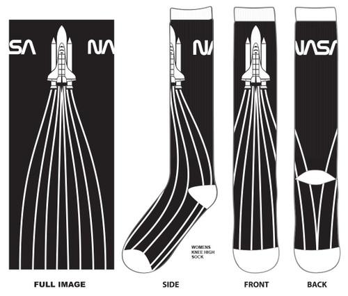 NASA Shuttle Launch Knee Socks