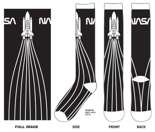 NASA Shuttle Launch Knee Socks