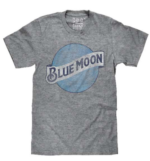 Blue Moon Logo in gray T-Shirt