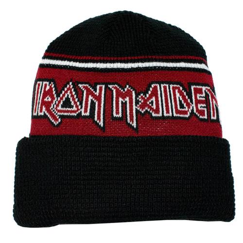Iron Maiden Black & Red Cuffed Beanie
