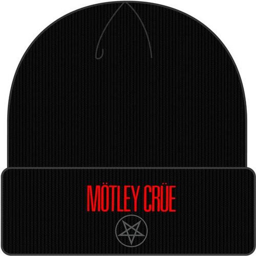 Motley Crue Black Cuffed Knit Beanie